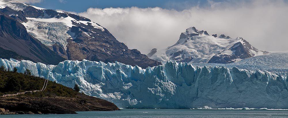 Glaciar Perito Moreno visto desde el lago Argentino