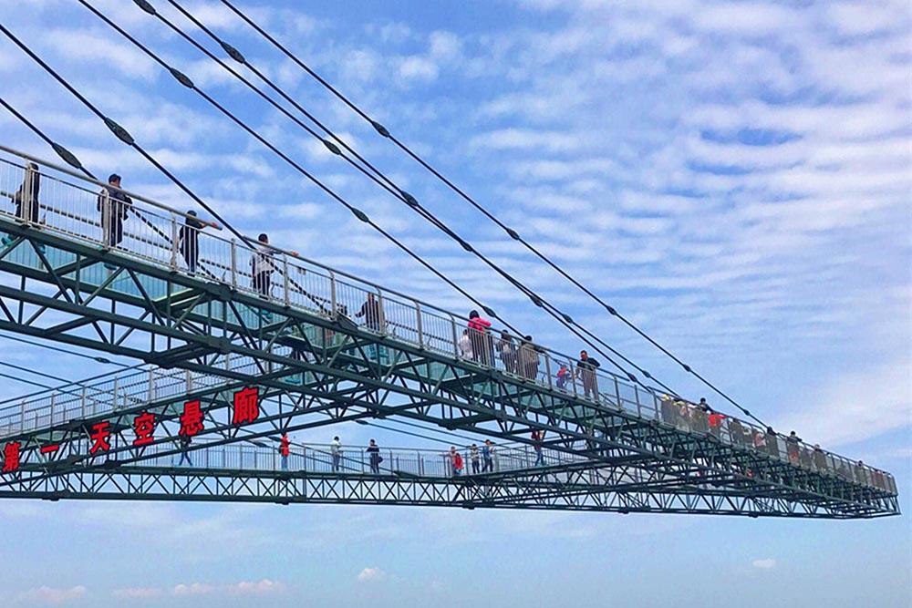 Sky Porch en el Parque Temático Wansheng Ordovician-China