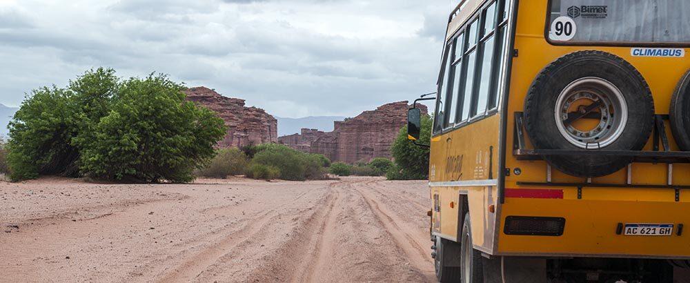 Camión 4x4 para recorrer el Parque nacional Talampaya