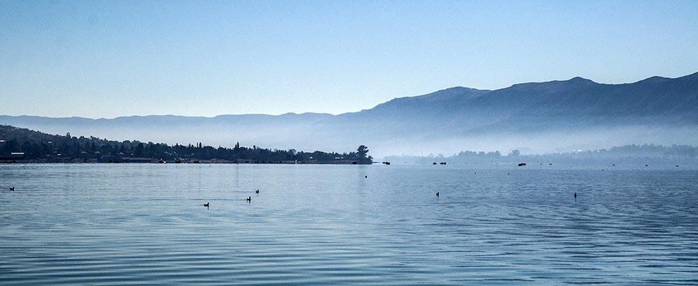 Lago San Roque en la Zona de Punilla