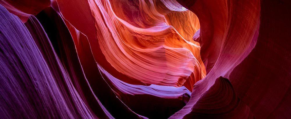 Cañón del Antílope inferior en el estado de Arizona, Estados Unidos