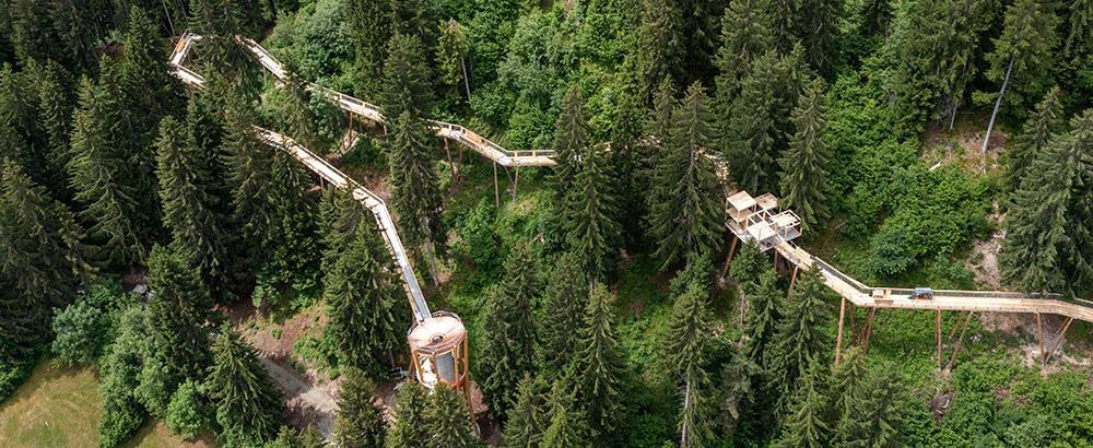 Senda dil Dragun en Suiza es la pasarela más larga del mundo