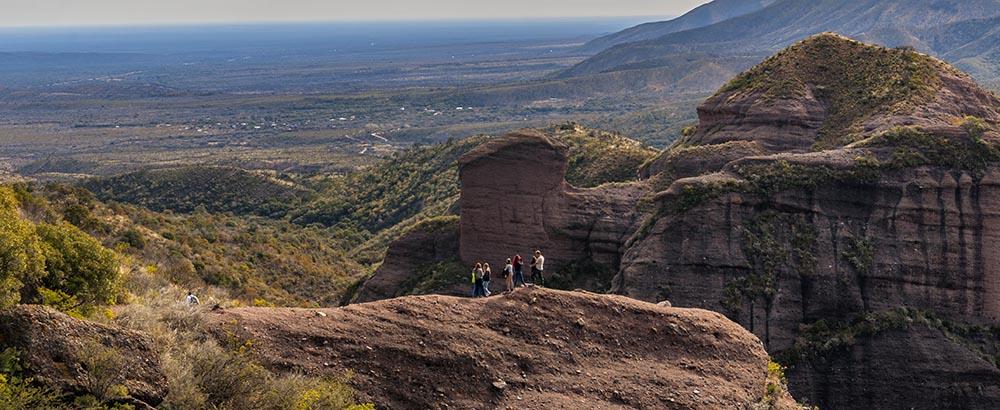 Formaciones rocosas en el Parque Los Terrones
